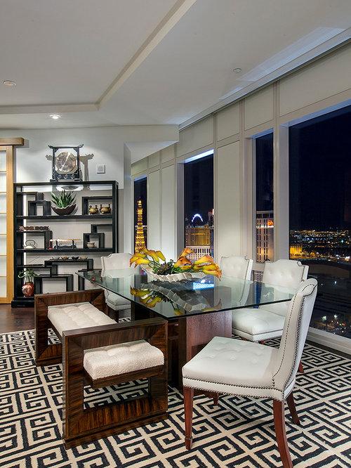 Asian Las Vegas Dining Room Design Ideas Remodels Photos