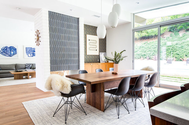 Midcentury Dining Room by Lewis / Schoeplein architects