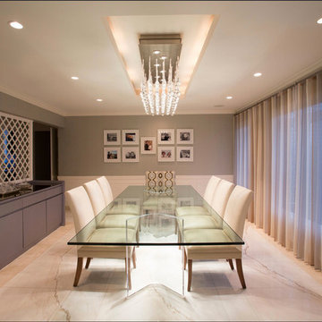 Manhasset, New York, Contemporary Dining Room
