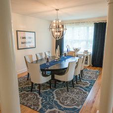Transitional Dining Room by In Two Design