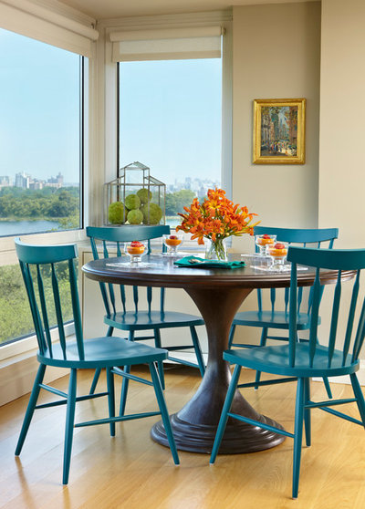 Transitional Dining Room by Britt Newman Design Concepts LLC