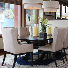 Transitional Dining Room by Roughan Interior Design