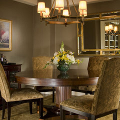 traditional dining room by Haddad Hakansson LLC