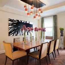 Transitional Dining Room by Robert Granoff