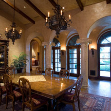 Mediterranean Dining Room by James Glover Residential & Interior Design
