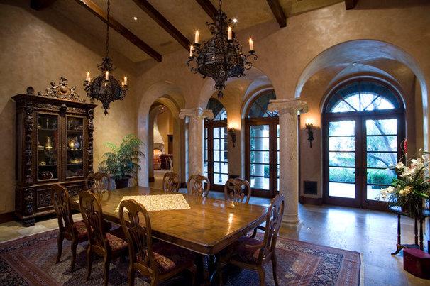 Mediterranean Dining Room by James Glover Residential & Interior Design