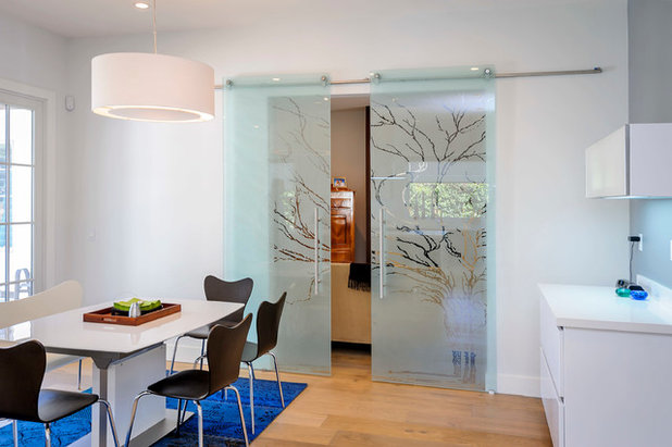 Contemporary Dining Room by Dennis Mayer - Photographer