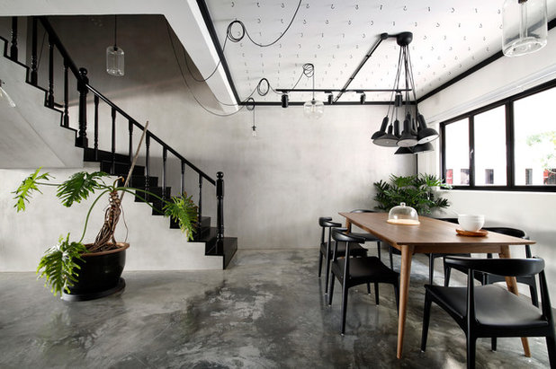 Industrial Dining Room by Free Space Intent