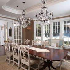 Eclectic Dining Room by Signature Design & Cabinetry LLC