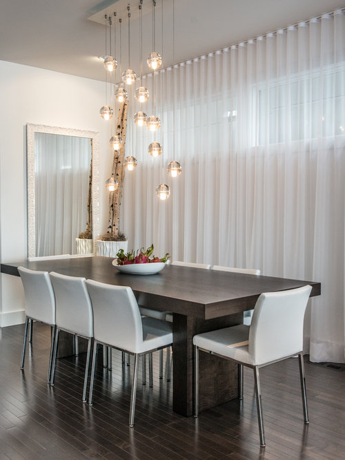 Dining Room Dark Romantic: Dark Table Light Chairs Home Design Ideas, Pictures
