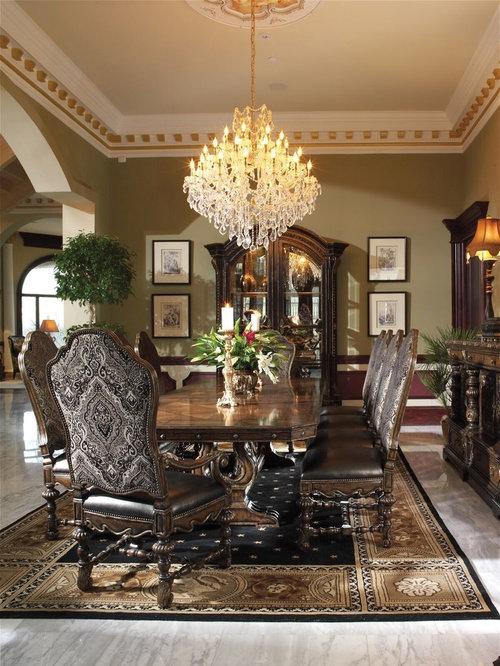 foto e idee per sale da pranzo aperte verso il soggiorno - sala da ... - Soggiorno Pareti Verdi 2