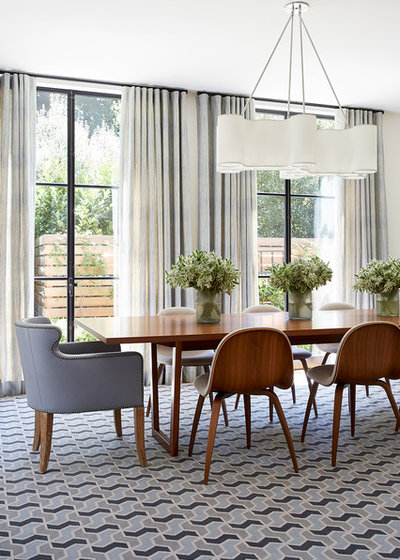 Transitional Dining Room by Kelly Hohla Interiors