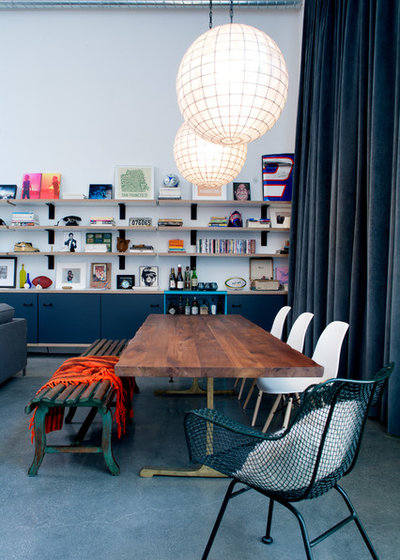Eclectic Dining Room By Daleet Spector Design
