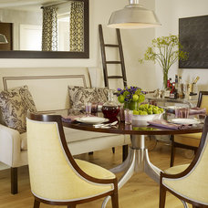 Transitional Dining Room by Jute Interior Design