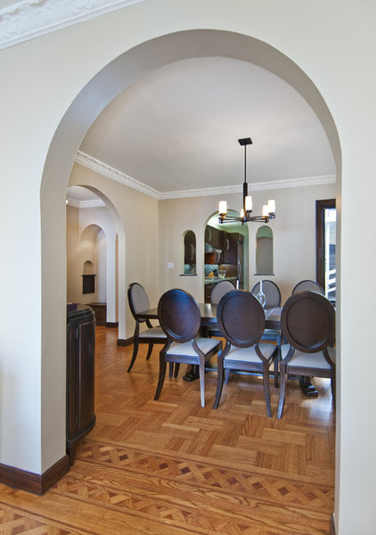 Transitional Dining Room by Studio S Squared Architecture, Inc.