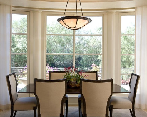 Traditional Dining Room Idea In San Francisco With Beige Walls