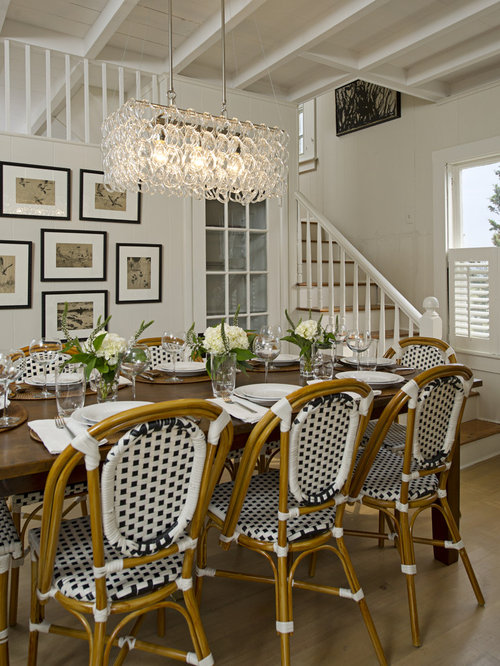 Chandelier Over Table Example Of A Large Classic Medium Tone Wood Floor Kitchen Dining Room Combo Design In