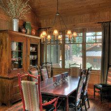 Rustic Dining Room by Studio V Interior Design
