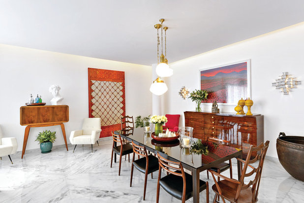 Eclectic Dining Room by Prachi Damle Photography