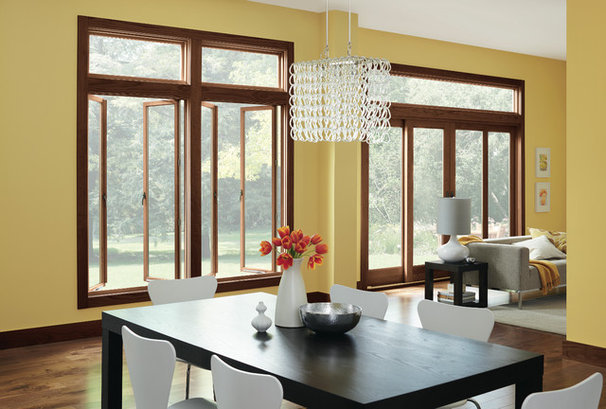 Contemporary Dining Room by Marvin Windows and Doors