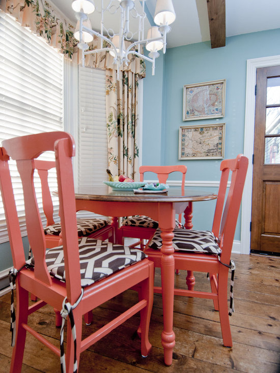 Dining Room Blue Red | Houzz