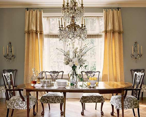 Grey and gold dining room houzz for Dining room ideas gold