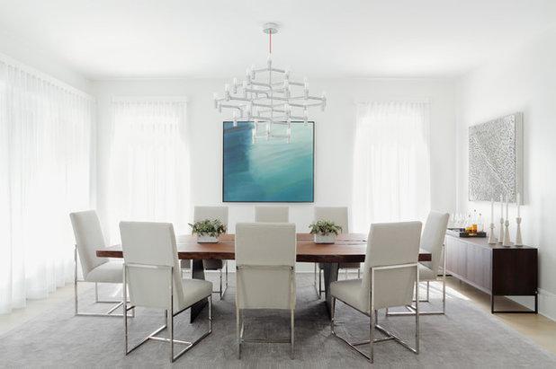 Contemporary Dining Room by j witzel interior design
