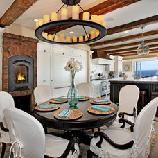 Beach Style Dining Room by James Glover Residential & Interior Design