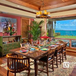 Ispirazione per una sala da pranzo tropicale