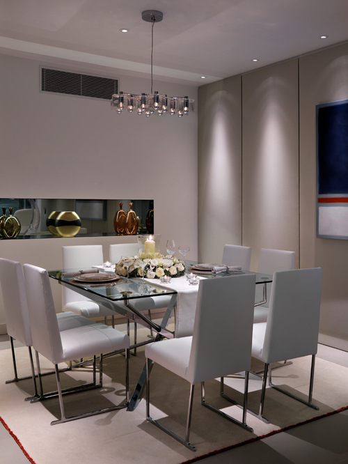 Square Glass Dining Table Houzz