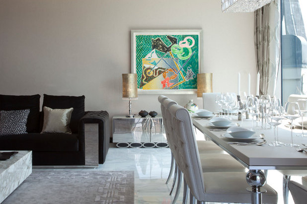 Contemporary Dining Room by Oliver Burns