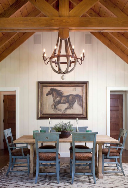 Rustic Dining Room by Ashley Campbell Interior Design