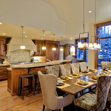 rustic dining room by David Johnston Architects