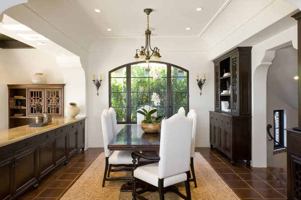 Mediterranean Dining Room by Charles A. Samson, Architect