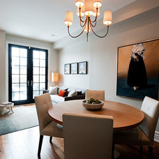 Transitional Dining Room by Timothy Johnson Design