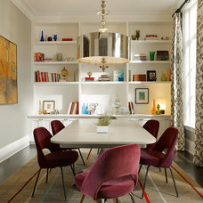 Eclectic Dining Room by Steven Miller Design Studio, Inc.