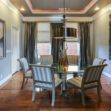 Meadows   Downtown Houston   Elegant Transitional Dining Room Remodel