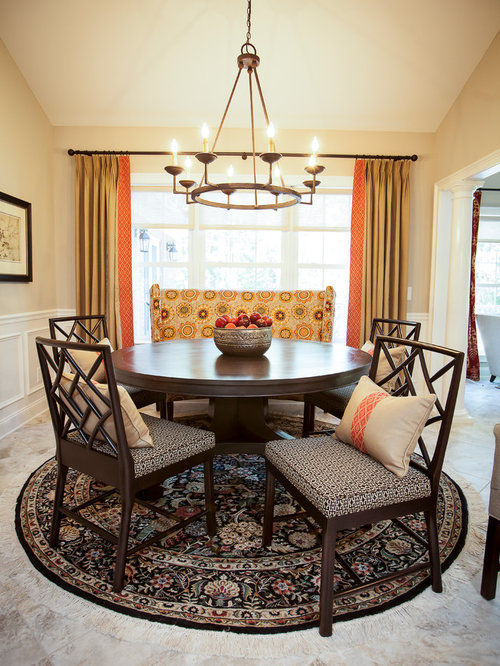 Elegant Dining Room Photo In Atlanta With Beige Walls