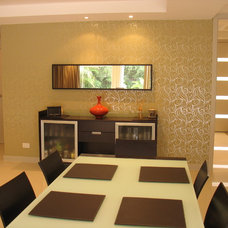 Contemporary Dining Room Meals area, 2 story home, San Diego, CA