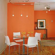 Contemporary Dining Room by Celia Berliner Design, LLC