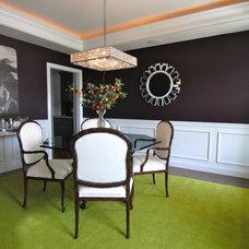 Contemporary Dining Room by Karen Viscito Interiors