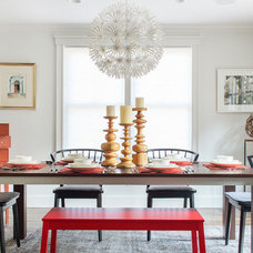 Contemporary Dining Room by Sean Litchfield Photography