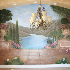Mediterranean Dining Room by Artistic Mural Works