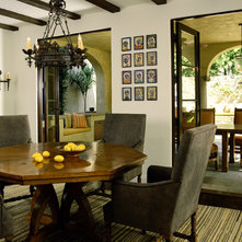 Mediterranean Dining Room By Tommy Chambers Interiors Inc