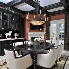 Mediterranean Dining Room by Chic on the Cheap
