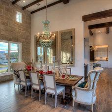 Mediterranean Dining Room by Garner Homes