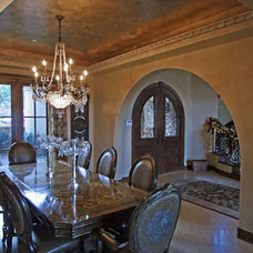 Mediterranean Dining Room by Gayle Berkey Architects
