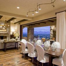 Rustic Dining Room Mediterranean Dining Room