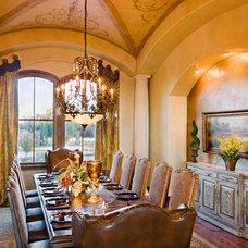 Mediterranean Dining Room by Jenkins Custom Homes