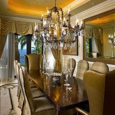 Mediterranean Dining Room by Perla Lichi Design